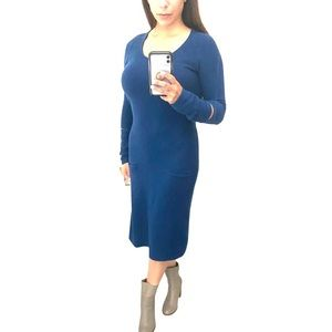 Sonia Rykiel | Rare Wool/Cashmere LS Midi Dress